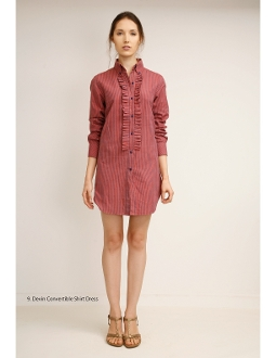 Devon convertible shirt dress